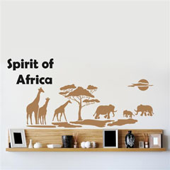 Šablona za zid Home Design BRICO XXL - Spirit of Africa