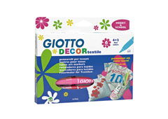 Flomasteri za tekstil GIOTTO DECOR textile/ 6 boja
